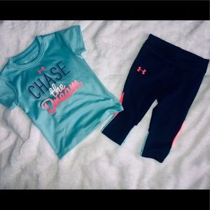 2T Girl's Under Armour matching set